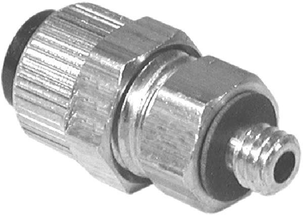 1/4 Poly X 10-32 Male Connector