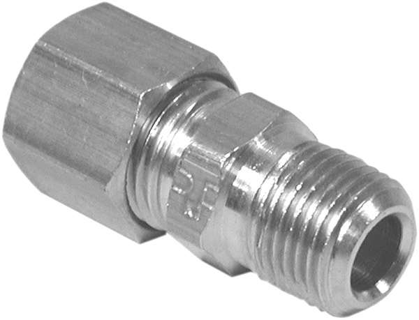 Tube to Male Pipe Connector Compression 1/4 X 1/8 MPT