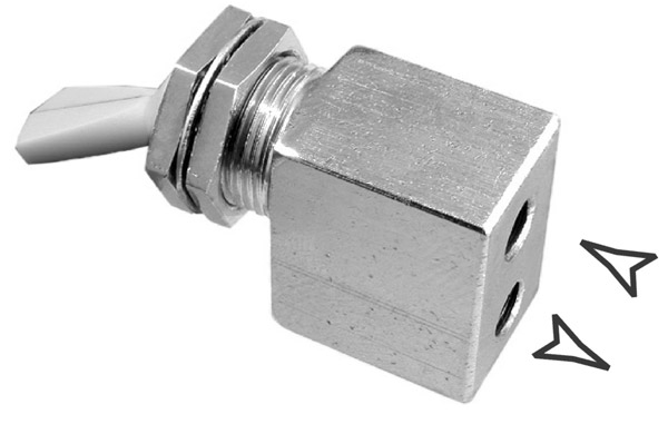 On/Off Toggle Valve Gray 2-way W/O exhaust N/C