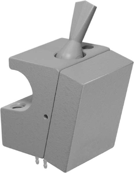 On-Off Toggle Valve Holder Bar Mounted Gray