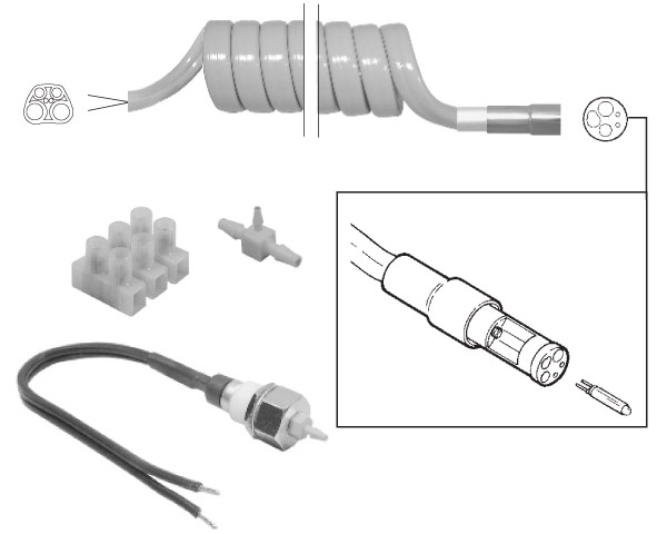 Handpiece Illumination Tubing Kit - Sterling Coiled