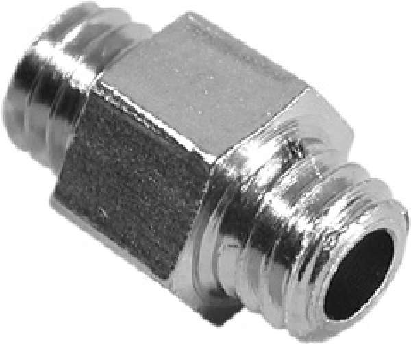 10-32 Male Coupler Plated